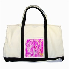 Butterfly Cut Out Pattern Colorful Colors Two Tone Tote Bag
