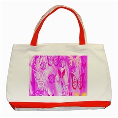 Butterfly Cut Out Pattern Colorful Colors Classic Tote Bag (Red)
