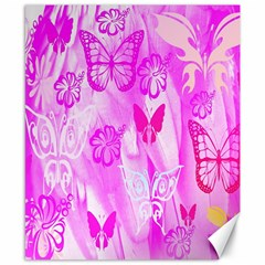 Butterfly Cut Out Pattern Colorful Colors Canvas 8  X 10