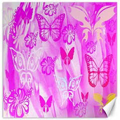 Butterfly Cut Out Pattern Colorful Colors Canvas 20  X 20