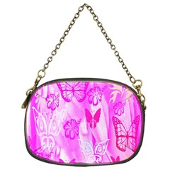 Butterfly Cut Out Pattern Colorful Colors Chain Purses (one Side)