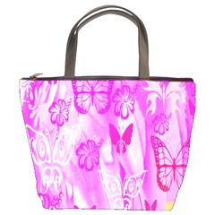 Butterfly Cut Out Pattern Colorful Colors Bucket Bags