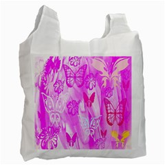 Butterfly Cut Out Pattern Colorful Colors Recycle Bag (two Side)