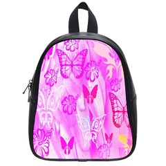 Butterfly Cut Out Pattern Colorful Colors School Bags (small)