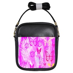 Butterfly Cut Out Pattern Colorful Colors Girls Sling Bags