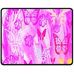 Butterfly Cut Out Pattern Colorful Colors Fleece Blanket (medium)