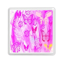 Butterfly Cut Out Pattern Colorful Colors Memory Card Reader (square)