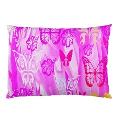 Butterfly Cut Out Pattern Colorful Colors Pillow Case (Two Sides)