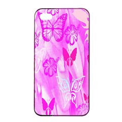 Butterfly Cut Out Pattern Colorful Colors Apple iPhone 4/4s Seamless Case (Black)
