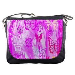 Butterfly Cut Out Pattern Colorful Colors Messenger Bags