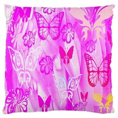 Butterfly Cut Out Pattern Colorful Colors Large Cushion Case (Two Sides)