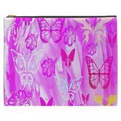 Butterfly Cut Out Pattern Colorful Colors Cosmetic Bag (XXXL)