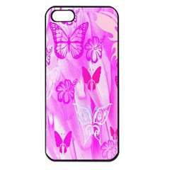 Butterfly Cut Out Pattern Colorful Colors Apple iPhone 5 Seamless Case (Black)