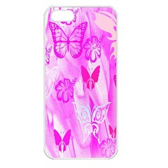 Butterfly Cut Out Pattern Colorful Colors Apple Iphone 5 Seamless Case (white)
