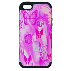 Butterfly Cut Out Pattern Colorful Colors Apple iPhone 5 Hardshell Case (PC+Silicone)