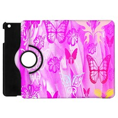 Butterfly Cut Out Pattern Colorful Colors Apple Ipad Mini Flip 360 Case