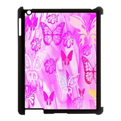 Butterfly Cut Out Pattern Colorful Colors Apple iPad 3/4 Case (Black)
