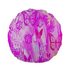 Butterfly Cut Out Pattern Colorful Colors Standard 15  Premium Round Cushions