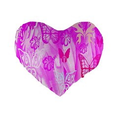 Butterfly Cut Out Pattern Colorful Colors Standard 16  Premium Heart Shape Cushions