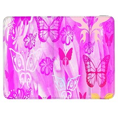 Butterfly Cut Out Pattern Colorful Colors Samsung Galaxy Tab 7  P1000 Flip Case