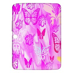 Butterfly Cut Out Pattern Colorful Colors Samsung Galaxy Tab 3 (10.1 ) P5200 Hardshell Case