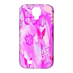 Butterfly Cut Out Pattern Colorful Colors Samsung Galaxy S4 Classic Hardshell Case (PC+Silicone)