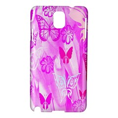 Butterfly Cut Out Pattern Colorful Colors Samsung Galaxy Note 3 N9005 Hardshell Case