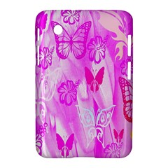 Butterfly Cut Out Pattern Colorful Colors Samsung Galaxy Tab 2 (7 ) P3100 Hardshell Case