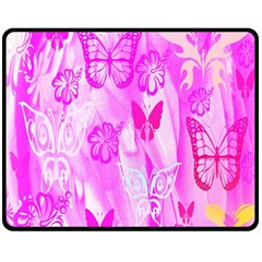 Butterfly Cut Out Pattern Colorful Colors Double Sided Fleece Blanket (medium)