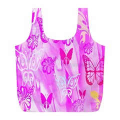 Butterfly Cut Out Pattern Colorful Colors Full Print Recycle Bags (L)