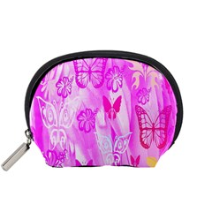 Butterfly Cut Out Pattern Colorful Colors Accessory Pouches (Small)