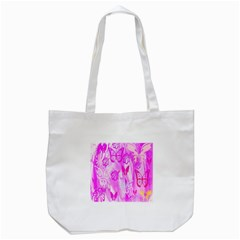 Butterfly Cut Out Pattern Colorful Colors Tote Bag (White)