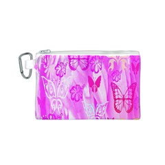 Butterfly Cut Out Pattern Colorful Colors Canvas Cosmetic Bag (s)