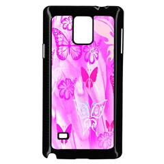 Butterfly Cut Out Pattern Colorful Colors Samsung Galaxy Note 4 Case (black)