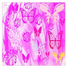 Butterfly Cut Out Pattern Colorful Colors Large Satin Scarf (square)