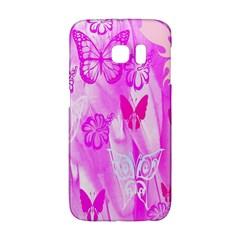 Butterfly Cut Out Pattern Colorful Colors Galaxy S6 Edge