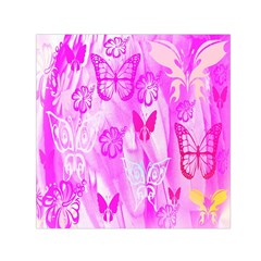 Butterfly Cut Out Pattern Colorful Colors Small Satin Scarf (Square)