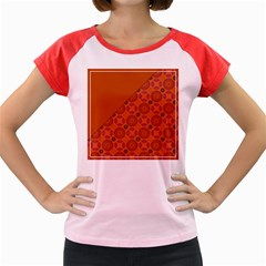 Vintage Paper Kraft Pattern Women s Cap Sleeve T-Shirt