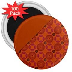 Vintage Paper Kraft Pattern 3  Magnets (100 pack)