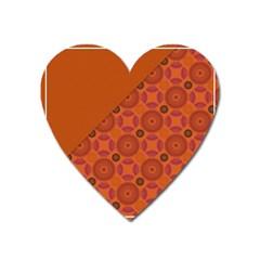 Vintage Paper Kraft Pattern Heart Magnet