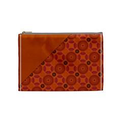 Vintage Paper Kraft Pattern Cosmetic Bag (Medium)