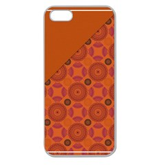 Vintage Paper Kraft Pattern Apple Seamless iPhone 5 Case (Clear)