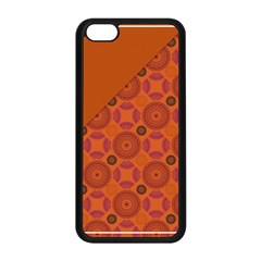 Vintage Paper Kraft Pattern Apple iPhone 5C Seamless Case (Black)