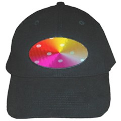 Polka Dots Pattern Colorful Colors Black Cap