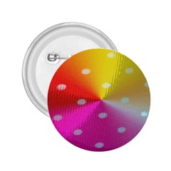 Polka Dots Pattern Colorful Colors 2 25  Buttons