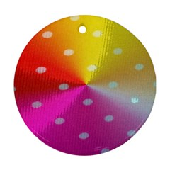 Polka Dots Pattern Colorful Colors Ornament (round)