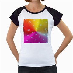 Polka Dots Pattern Colorful Colors Women s Cap Sleeve T