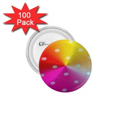 Polka Dots Pattern Colorful Colors 1 75  Buttons (100 Pack)