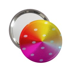 Polka Dots Pattern Colorful Colors 2 25  Handbag Mirrors
