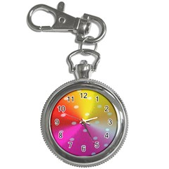 Polka Dots Pattern Colorful Colors Key Chain Watches